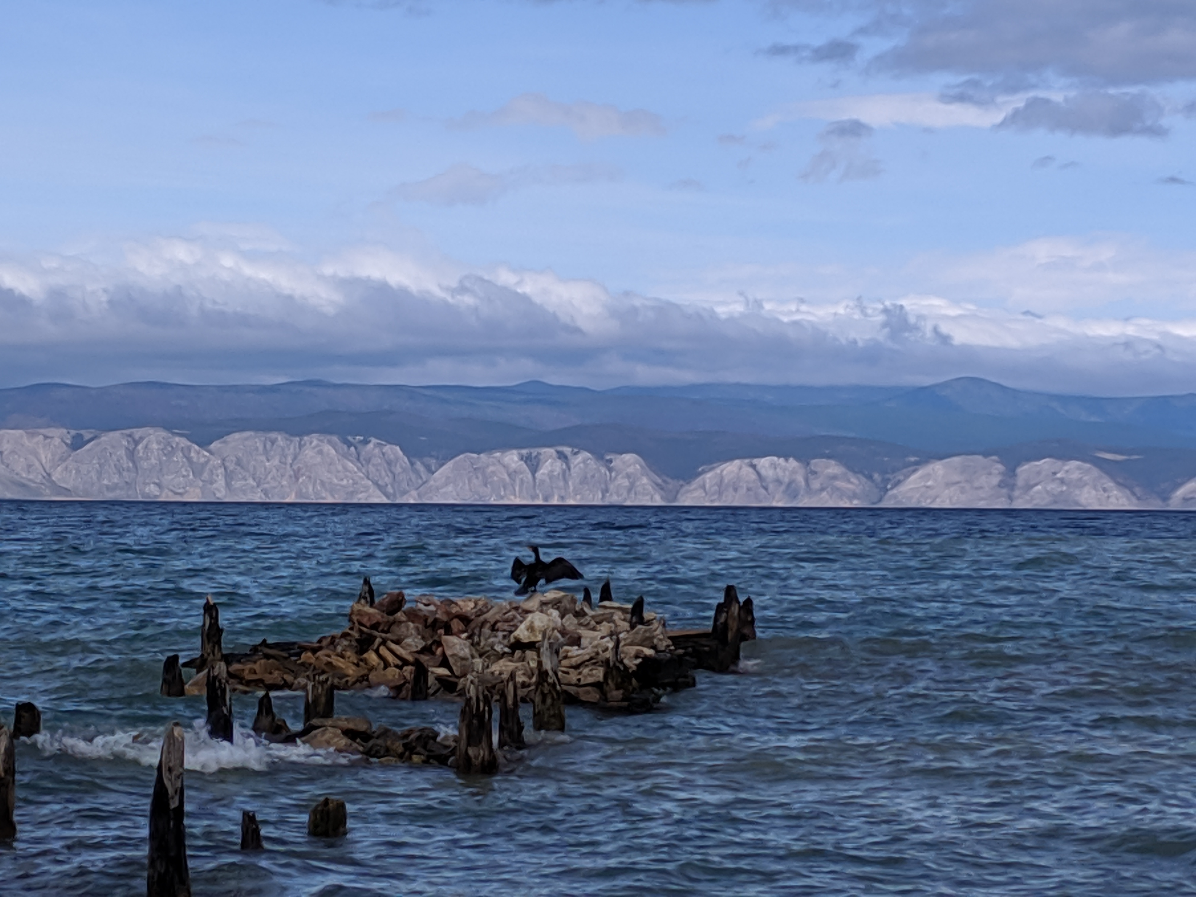 Views of Lake Baikal from Olkhon Island in Russia
