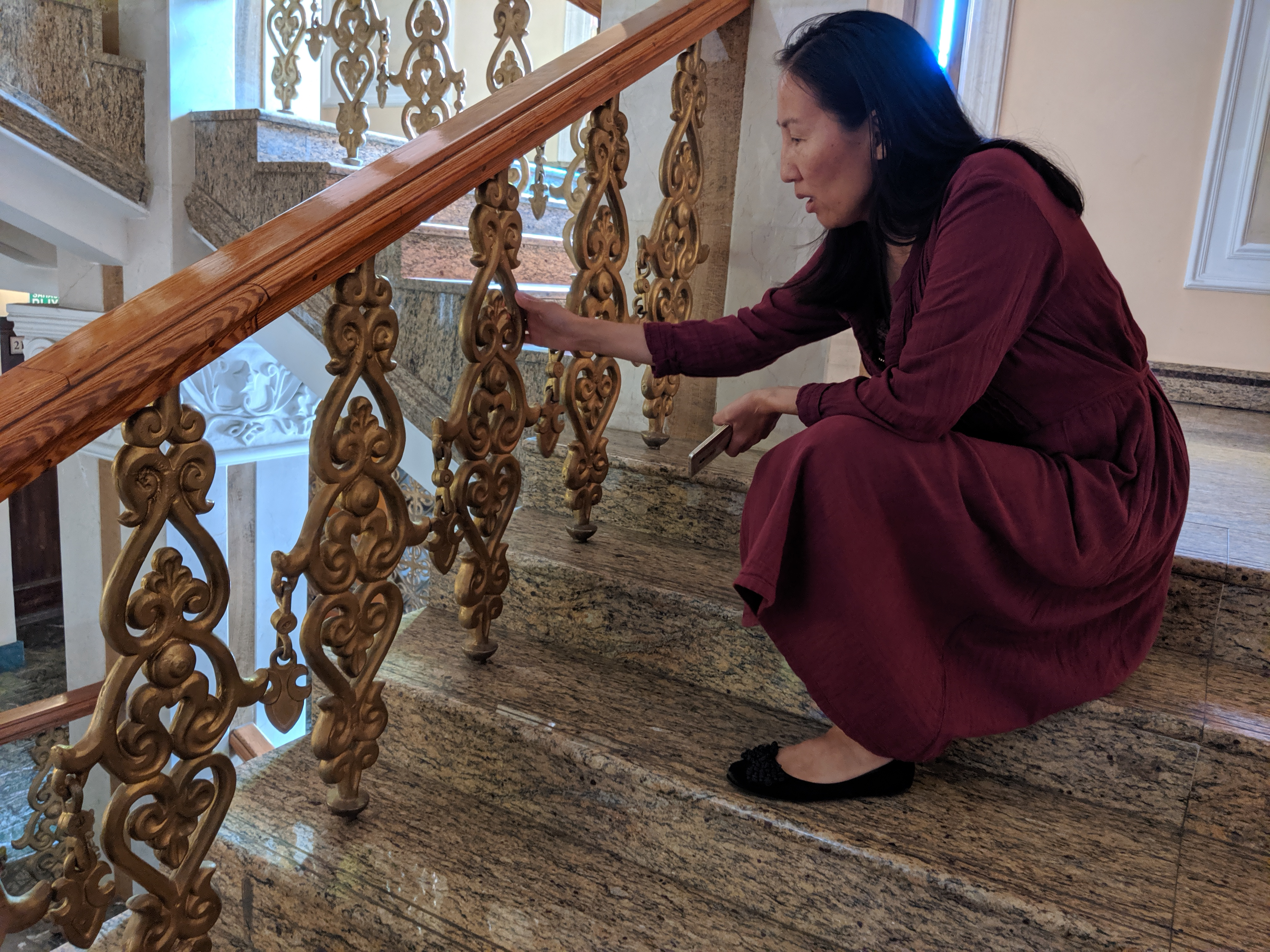 Staircase at ballet and opera theater in Ulan-Ude