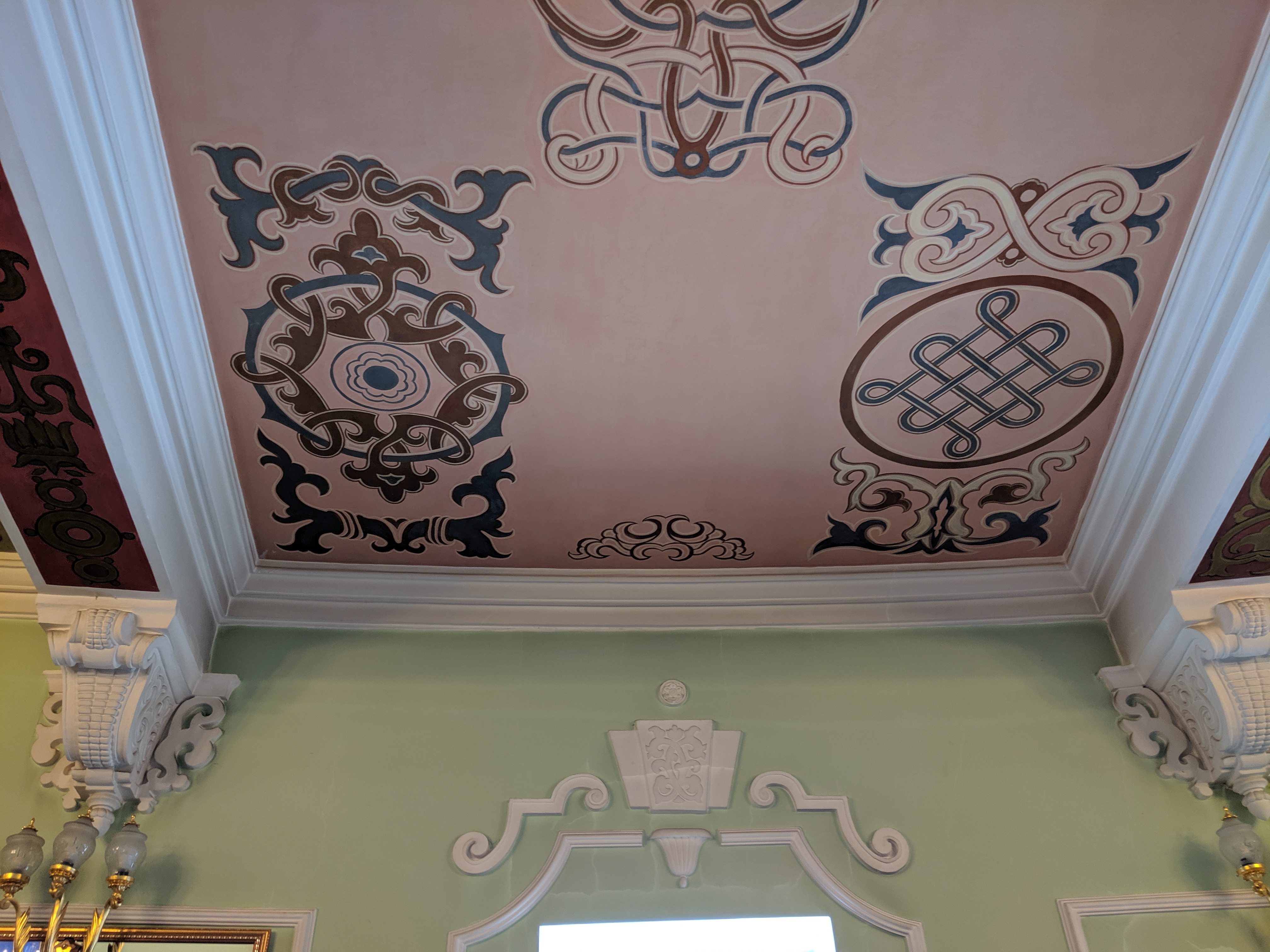 Ceiling at ballet theater in Ulan-Ude, Russia