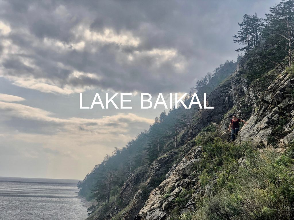 Hiking along Lake Baikal