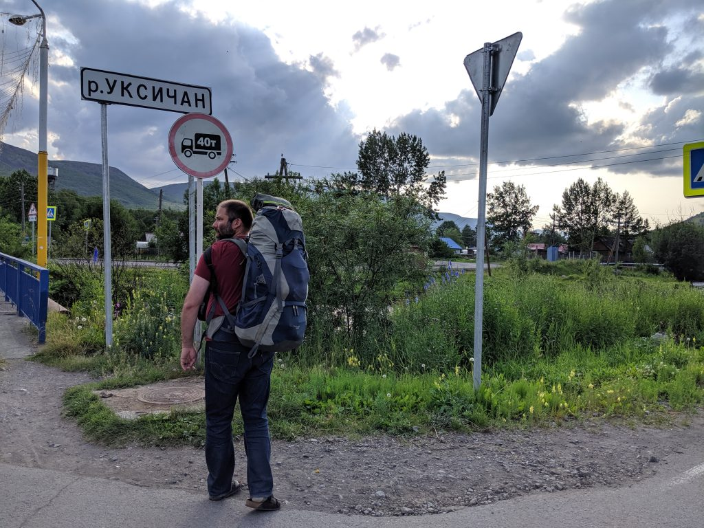 Arriving in Esso, on Russia's Kamchatka Peninsula