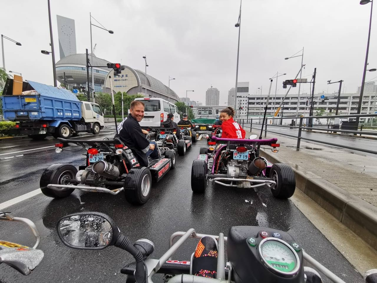 Driving go-karts around Tokyo