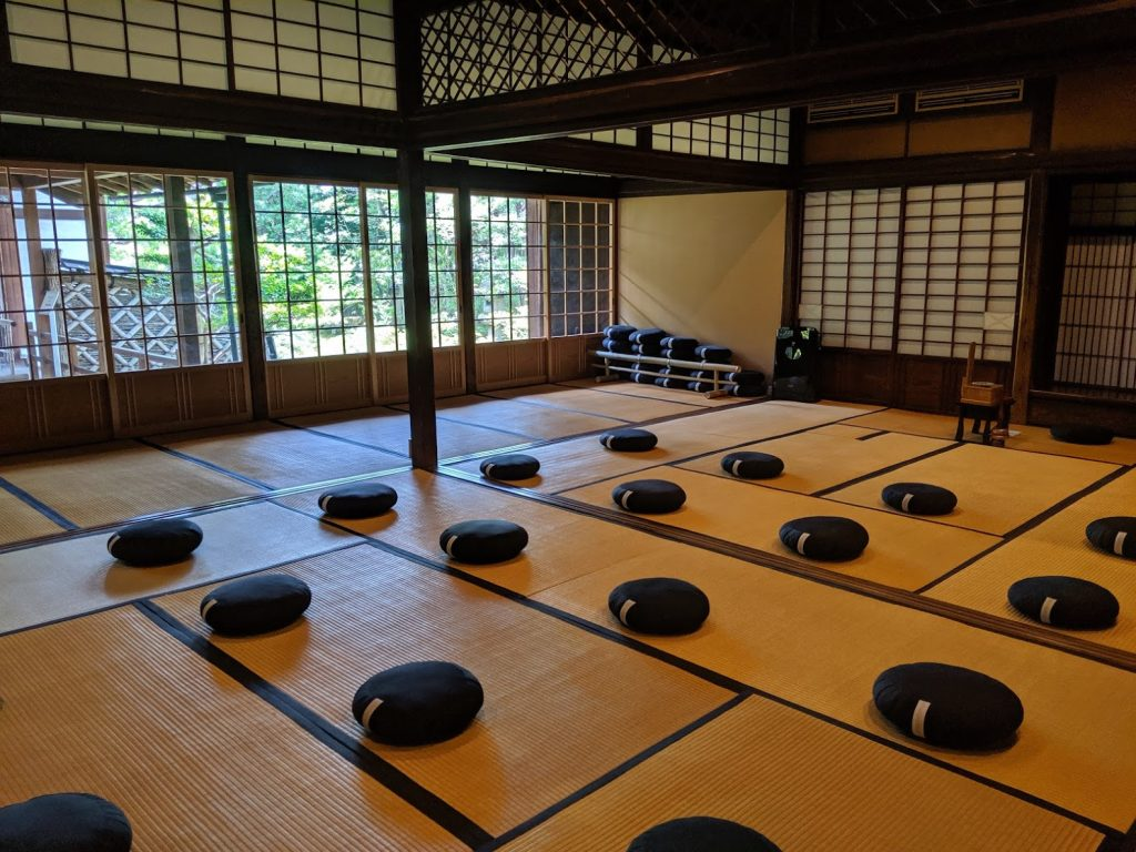 Meditation room at Shunkoin Temple
